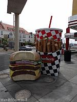 Giant Burger Meal at Checkers in Las Vegas