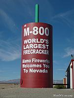 The World's Largest Firecracker is out in the middle of the desert in Nevada