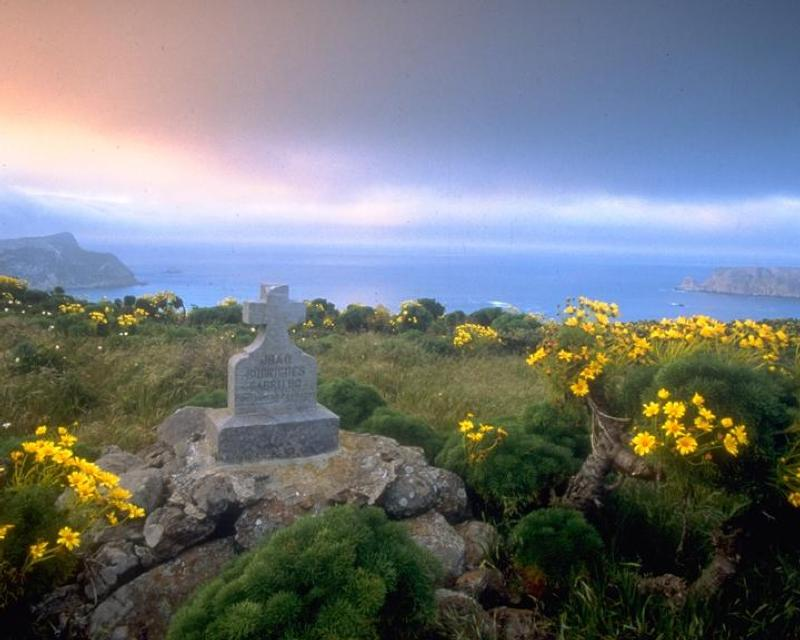 Monument on San Miguel Island