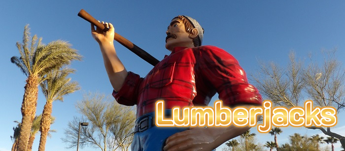 These restaurants have a 15 foot tall lumberjack outside!