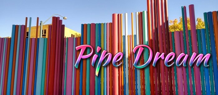 Pipe Dream colorfully represents a famous musical piece with painted pipes!