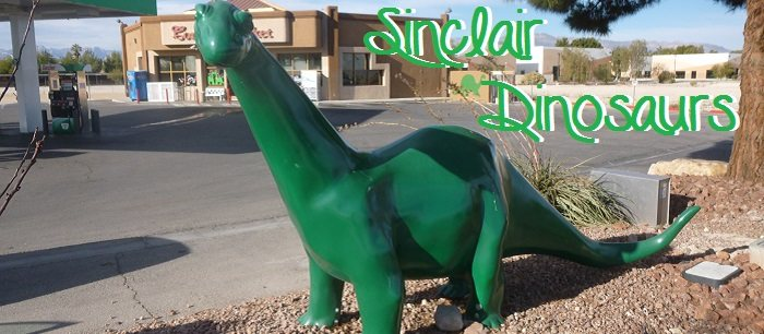 Sinclair Dinosaurs are starting to appear in both California and Nevada!