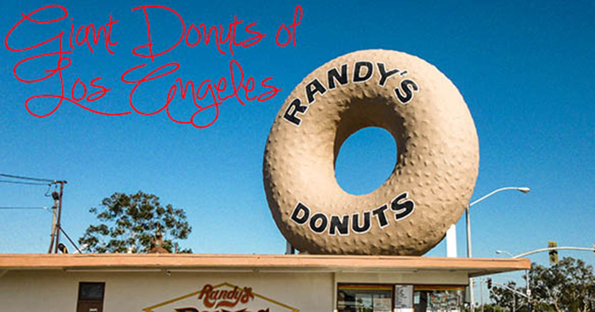 Giant Donuts Of Los Angeles And One Bagel Weird Nevada